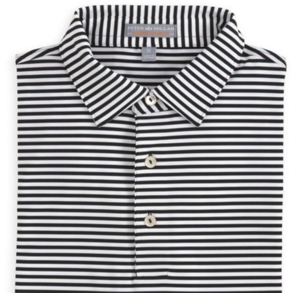 49a928bbb56 Peter Millar Competition Stripe Jersey Polo Shirt.  M_5bdf6d3f6a0bb7989852773c